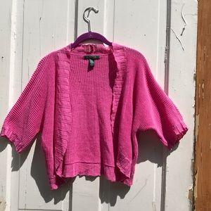 Ralph Lauren cotton linen blend pink shrug Size XL